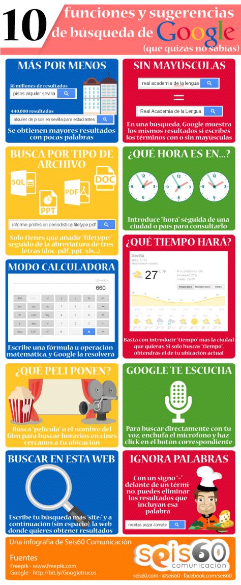 10 funciones y sugerencias de búsqueda de Google